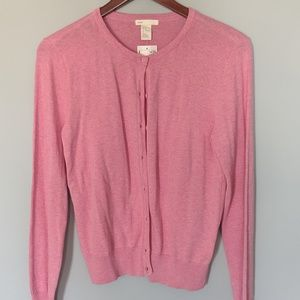 NEW H&M Heathered Pink Cardigan
